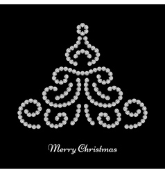 Christmas tree design vector image