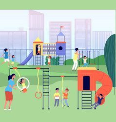 city playground kindergarten park summertime vector image