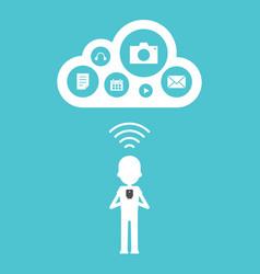 cloud computing concept flat design vector image