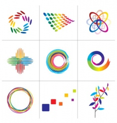 Colorful elements vector