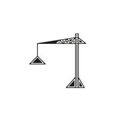 crane icon - construction crane building vector image