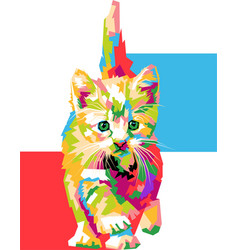 cute and colorful cat vector image