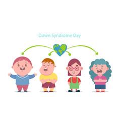 Down syndrome day cartoon vector