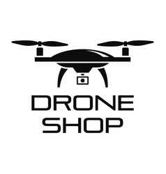 Drone online shop logo simple style vector