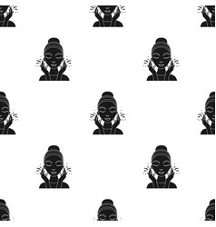 face washing icon in black style isolated on white vector image