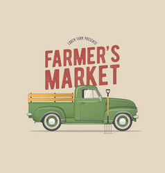 Farmers market themed vector
