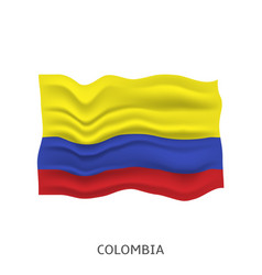 flag colombia vector image