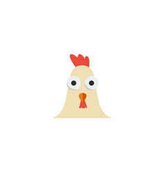 flat icon cock element of vector image