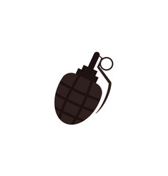 Flat icon of egg-shaped grenade bomb hand frag vector