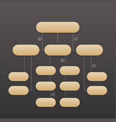 Flowchart template elements vector