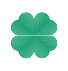 four-leaf clover vector image