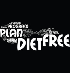 Free diet plans how can you find the best one vector