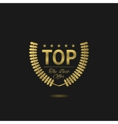 Golden top badge vector image