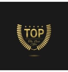 Golden top badge vector image