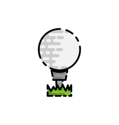 Golf flat icon vector image