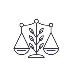 growing law line icon concept growing law vector image