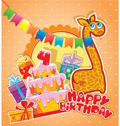 happy birthday 4year 380 vector image