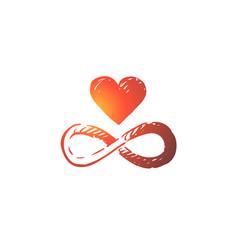 harmony heart balance heart unity concept vector image