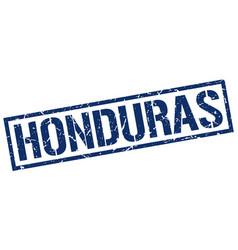 Honduras blue square stamp vector