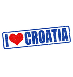 I love croatia stamp vector