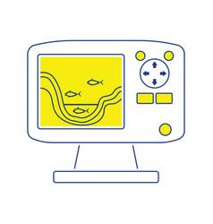 Icon of echo sounder vector