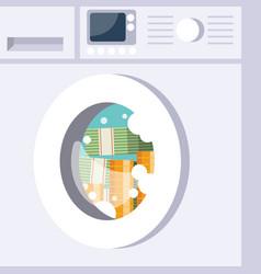 Laundering money washing machine vector