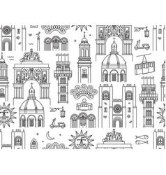 Lisbon portugal seamless pattern vector