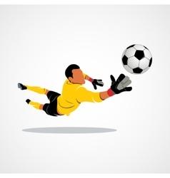 Little goalkeeper icon vector image