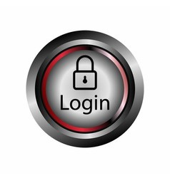 Login button icon vector image