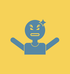 Man headache angry man head illness vector
