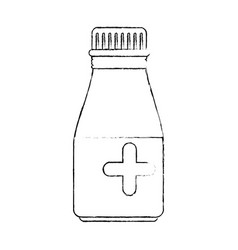 Medicine drugs bottle vector