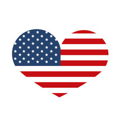 Memorial day flag shaped heart event american vector