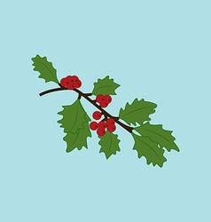 Mistletoe branch vector