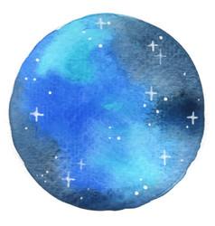 Night sky with glitter star circle shape frame vector