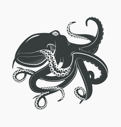 octopus mascot or sea ocean monster tattoo vector image