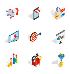 online shop icons isometric 3d style vector image