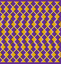 Optical seamless pattern purple shapes move on vector