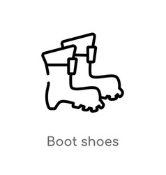 outline boot shoes icon isolated black simple vector image