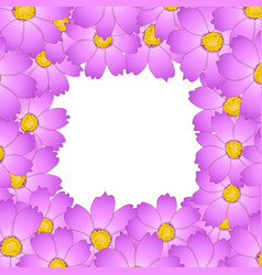 Pink cosmos flower border2 vector