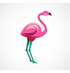 Pink Flamingo icon and vector image