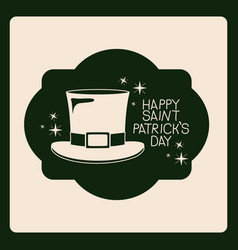 poster happy saint patricks day of emblem with hat vector image