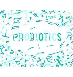 Probiotics background vector