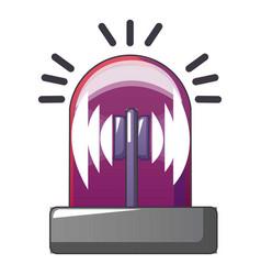 red flash siren icon cartoon style vector image
