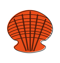 sea shell icon image vector image