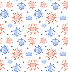 seamless pattern firework for independence day vector image