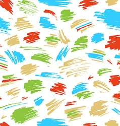 Seamless pattern of colourful strokes vector