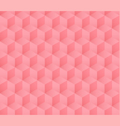 seamless soft pink cube pattern with gradient vector image