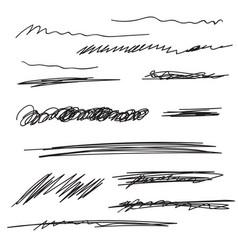 set underline vector image