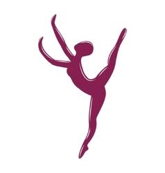 Sketched dancing woman vector