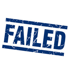 Square grunge blue failed stamp vector